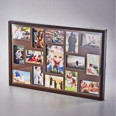 Painel-de-Fotos-Marrom-Collection-para-15-Fotos-Woodart