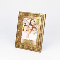 Porta-Retrato-Dourado-para-1-Foto-10x15-Strass--Woodart