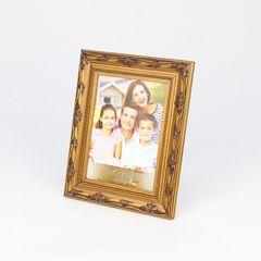Porta-Retrato-Bronze-para-1-Foto-20x25-Flores--Woodart