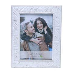 Porta-Retrato-Branco-para-1-Foto-15x21-Listras--Woodart