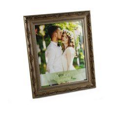 Porta-Retrato-Prata-para-1-Foto-13x18-Flores--Woodart