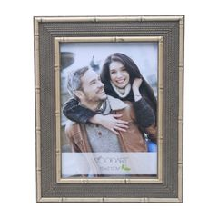 Porta-Retrato-Marrom-para-1-Foto-15x21-Ornamental-Woodart