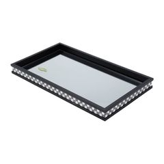 Bandeja-de-Madeira-Preta-com-Vidro-Bisote-365cm-Diamond-II-Woodart