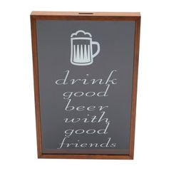Quadro-Porta-Tampinhas-em-Madeira-465cm-Good-Beer-Woodart
