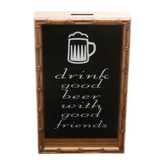 Quadro-Porta-Tampinhas-em-Bambu-465cm-Good-Beer-Woodart