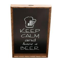 Quadro-Porta-Tampinhas-em-Bambu-325cm-Have-a-Beer-Woodart