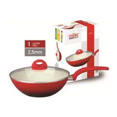 Panela-Wok-em-Ceramica-com-Alca-28cm-Vermelha-715-Class
