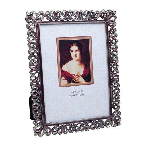 Porta-Retrato-Prata-com-Strass-para-1-Foto-10x15cm-Lili-Prestige