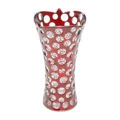 Vaso-de-Vidro-25cm-Red-Points-Prestige