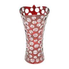 Vaso-de-Vidro-35cm-Red-Points-Prestige