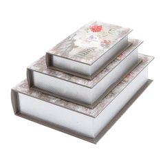 Conjunto-de-3-Caixas-Livro-em-Madeira-Flower-Prestige