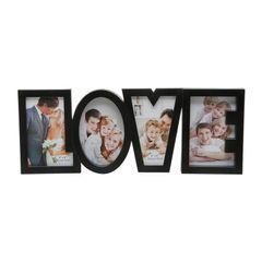 Porta-Retrato-Preto-para-4-Fotos-10x15cm-Love-Prestige