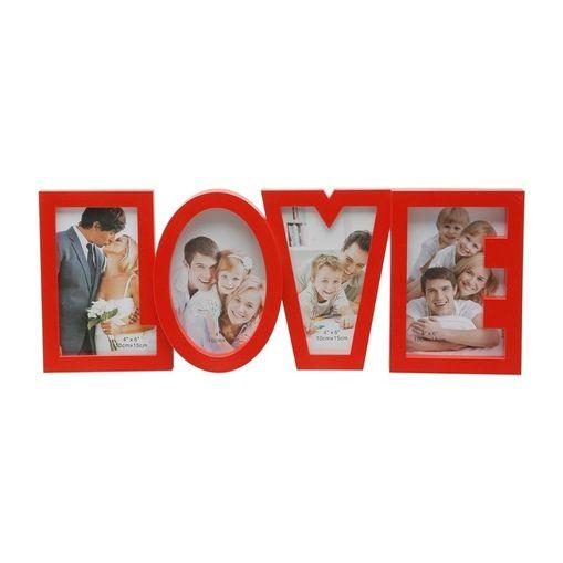 Porta-Retrato-Vermelho-para-4-Fotos-10x15cm-Love-Prestige