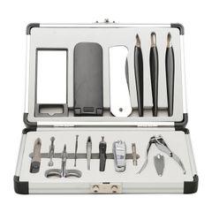 Kit-de-Manicure-Unisex-com-16-Pecas-com-Estojo-de-Metal-Prestige