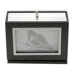 Porta-Retrato-Preto-para-1-Foto-10x15cm-com-Album-Bal-Prestige