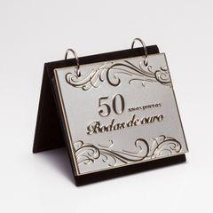 Porta-Retrato-Prata-para-1-Foto-10x15cm-com-Album-Bodas-de-Ouro-Prestige