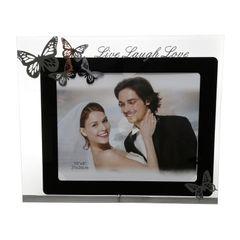 Porta-Retrato-Preto-para-1-Foto-13x18cm-Laugh-Love-Prestige