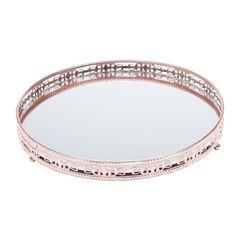Bandeja-Redonda-de-Ferro-com-Espelho-Bronze-19cm-Bunch-Prestige