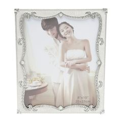 Porta-Retrato-Branco-com-Strass-para-1-Foto-20x25cm-Mik-Prestige