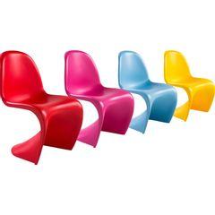 Kit 4 Cadeiras Infantis Panton Cores Byart
