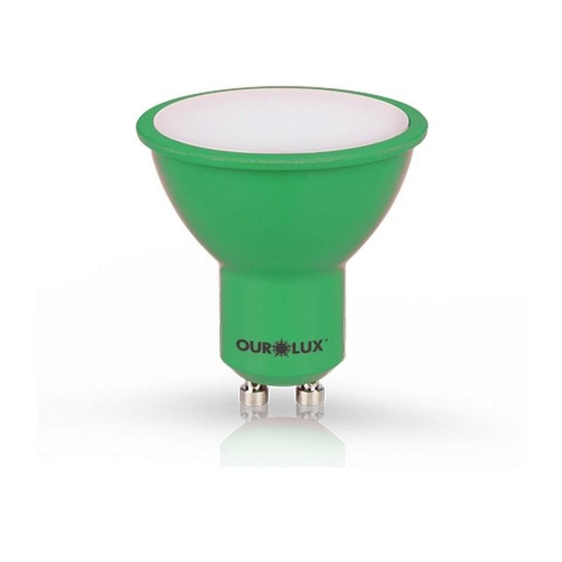 Lâmpada Dicróica Led 4W Verde GU10 Bivolt 05470 Ourolux