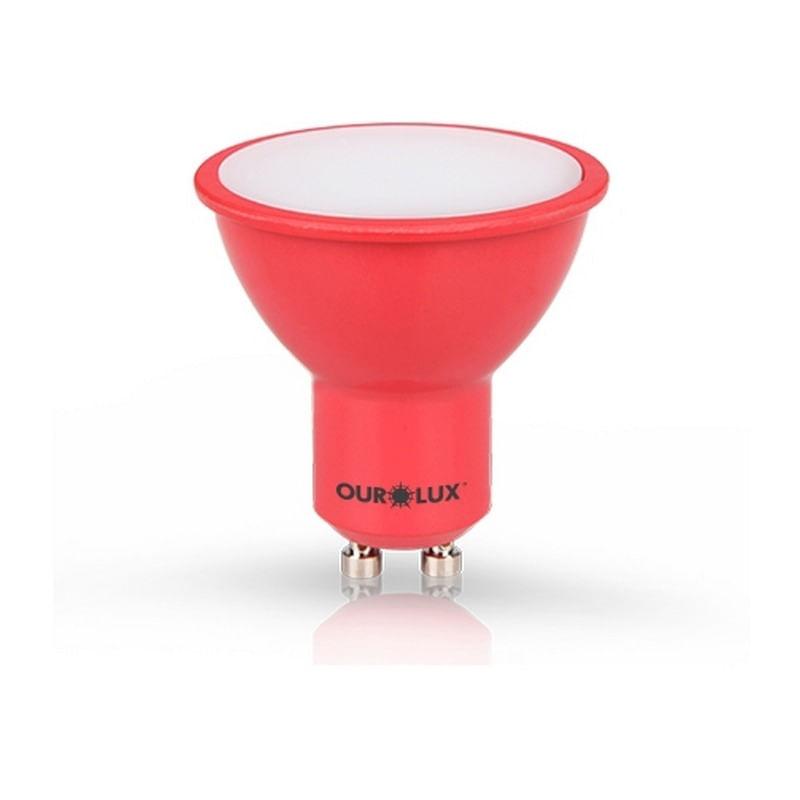 Lâmpada Dicróica Led 4W Vermelho GU10 Bivolt 05473 Ourolux