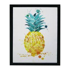 Quadro-com-Moldura-Pineapple-Laranja-Urban