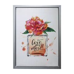 Quadro-com-Moldura-Vase-And-Flower-Vermelho-Urban