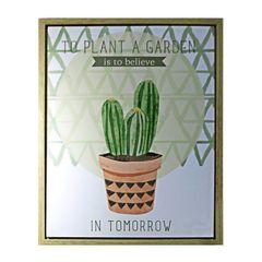 Quadro-com-Moldura-Cactus-Verde-Urban