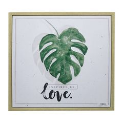 Quadro-com-Moldura-Leaves-And-Love-Verde-Urban