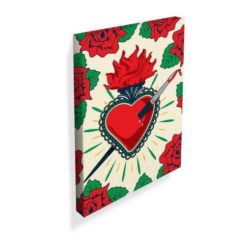 Quadro-Decorativo-Vermelho-Frida-Kahlo-Urban