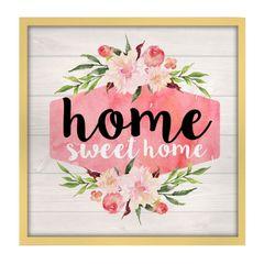 Quadro-com-Moldura-em-Madeira-Home-Sweet-Home-Rosa-Urban