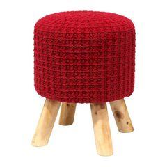 Puff-de-Madeira-com-Crochet-Vermelho-Urban
