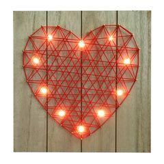 Quadro-Decorativo-com-Led-Heart-Vermelho-Urban
