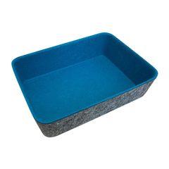 Cesta-Organizadora-em-Feltro-18x13cm-Azul-Claro-Urban
