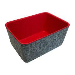 Cesta-Organizadora-em-Feltro-15x10cm-Vermelha-Urban