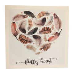 Quadro-Decorativo-Branco-Heart-Feathers-Urban