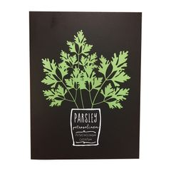 Quadro-Decorativo-Preto-Parsley-Herbs-Urban