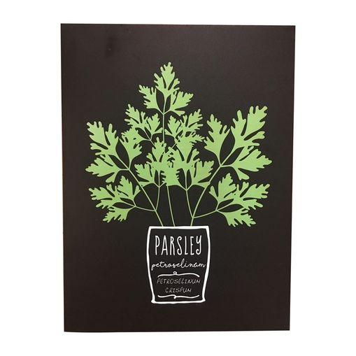 Quadro-Decorativo-Preto-Parsley-Herbs-Urban