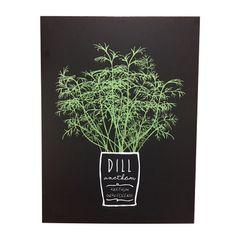 Quadro-Decorativo-Preto-Dill-Herbs-Urban