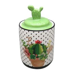 Potiche-de-Ceramica-Verde-Cactus-Lid-Pequeno-Urban