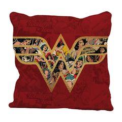 Capa-de-Almofada-Vermelha-45x45cm-Logo-Mulher-Maravilha-Urban