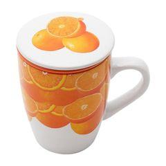 Caneca-de-Porcelana-com-Infusor-Oranges-Bon-Gourmet