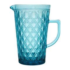 Jarra-de-Vidro-Azul-11L-Diamond-Bon-Gourmet