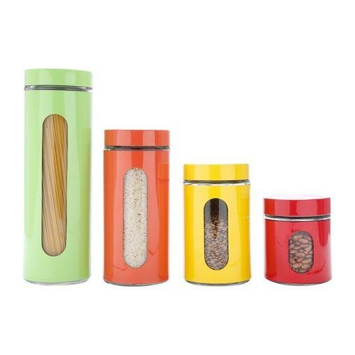 Conjunto-de-Porta-Mantimentos-em-Inox-4-Pecas-Colors-Bon-Gourmet