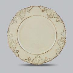 Conjunto-com-6-Sousplats-de-Plastico-Bege-Flowers-Bon-Gourmet