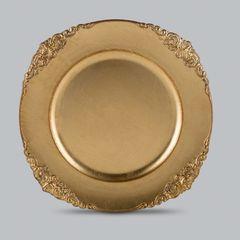 Conjunto-com-6-Sousplats-de-Plastico-Dourado-Provencal-Bon-Gourmet