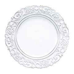 Conjunto-com-6-Sousplats-de-Plastico-Branco-King-Bon-Gourmet
