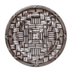 Conjunto-com-6-Sousplats-de-Plastico-Marrom-Wood-Bon-Gourmet
