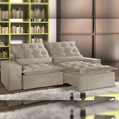 Sofa-Retratil-e-Reclinavel-2-Lugares-Bege-210cm-Lucan-1